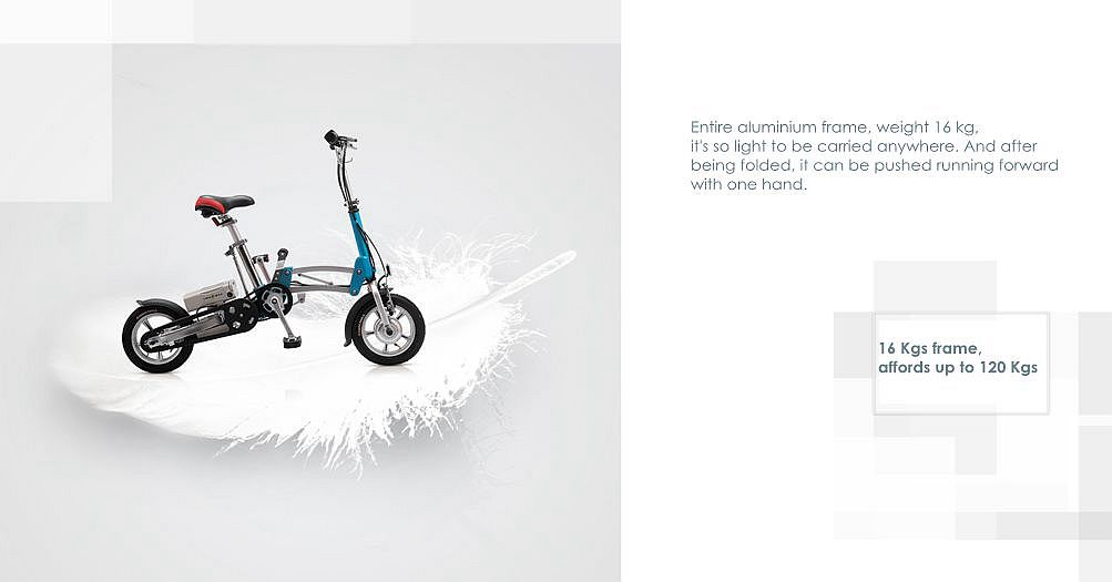 Electric fold foldable bike bicycle light folding